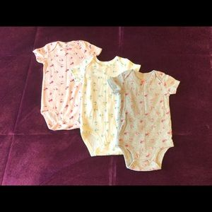 Set of 3 Floral Carter's Onesies, 12 months